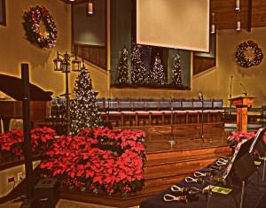 2015-11-21 Carols Concert Stage! 5 Forks Baptist