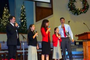 2015-11-29 Carols Concert Peter, Susanna, Priscilla, Phebe, and Luke 5 Forks Baptist!