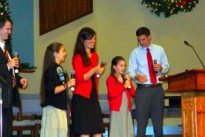 2015-11-29 Peter, Susanna, Priscilla, Phebe, and Luke @ Carols Concert