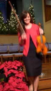 2015-11-29 Priscilla with Violin Carols Concert @ 5 Forks