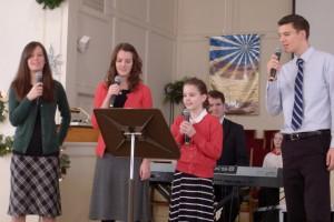 2015-12-20 Lucas Ave. Baptist with Priscilla, Deborah, Peter, Phebe, LUke and Susanna