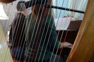 12-24-15 Peter and Priscilla Piano Duet Through Harp