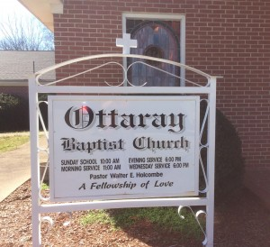 2-28-16 Ottaray Baptist Church Sign