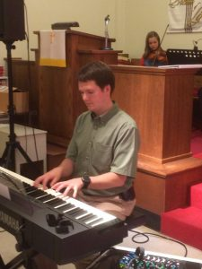 2016-5-10 Peter on Piano & Phebe on Violin ROA Wesley Commons