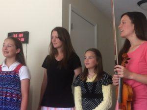 2016-6-22 ROA Singing for Aunt Joy @ Nursing Home Susanna, Deborah, Phebe, and Priscilla