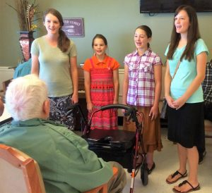 2016-7-17 ROA Deborah, Phebe, Susanna, and Priscilla Singing for Jim Gibbs, NC